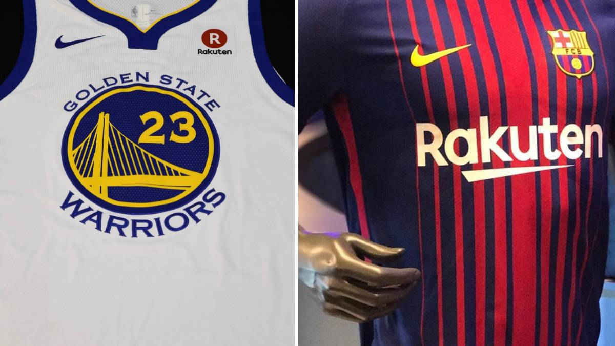 buy online 2460b 12215 Rakuten, nuevo patrocionador de los Golden State Warriors