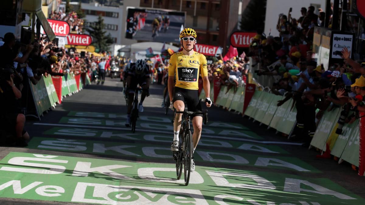 Resumen Del Tour De Francia Etapa 12 Geraint Thomas Gana En Alpe D Huez Y Es Más Líder As Com