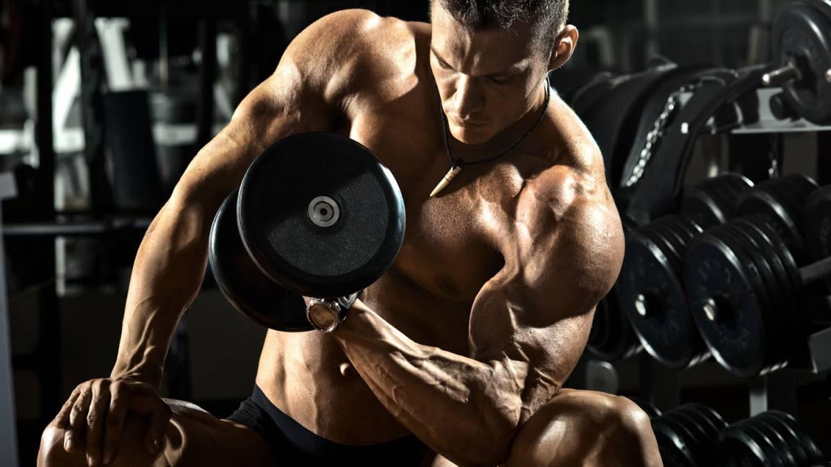 Descanso de musculos en gym