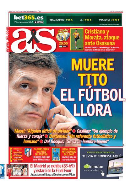 Muere Tito, el fútbol llora