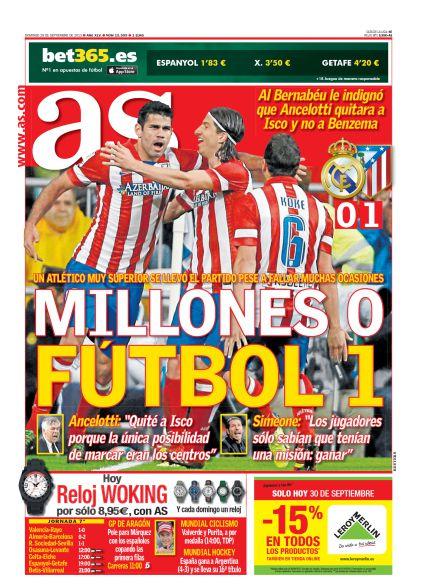 Millones 0 - Fútbol 1