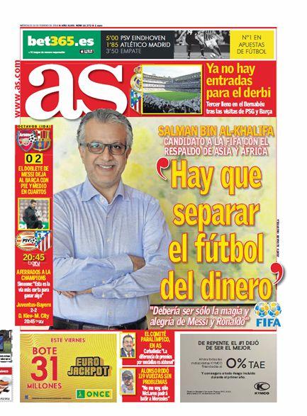 Arsenal vs F.C. Barcelona - 1/8 Champions - Página 11 1454648844_756637_1456286632_portadadelperiodico_grande