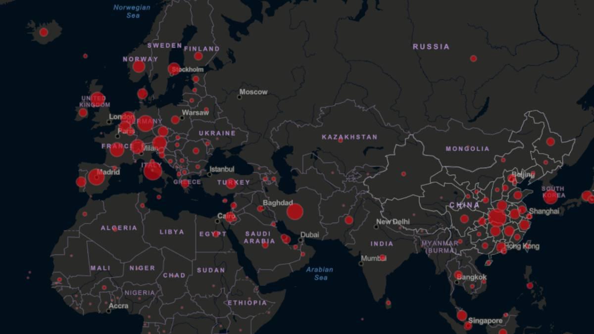 Mapa Del Coronavirus En El Mundo En Tiempo Real Hoy 22 De Marzo