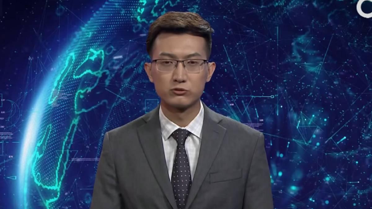 Resultado de imagen para robot presentador noticias china