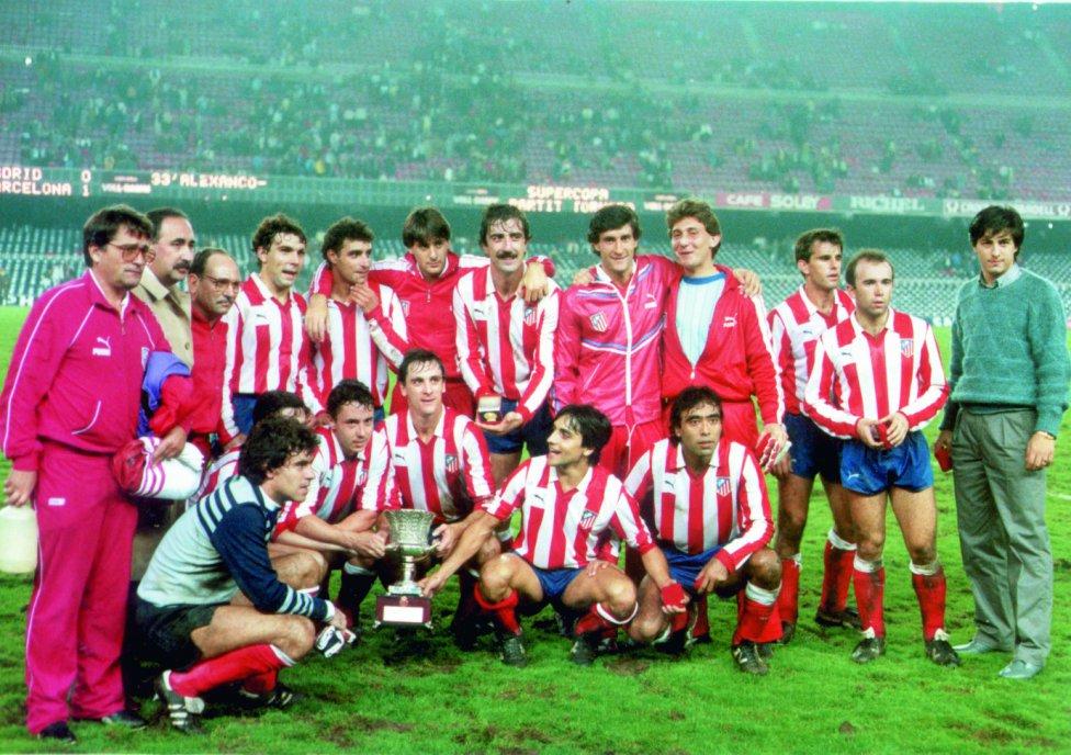 Resultat d'imatges de supercopa 1985 atletico madrid