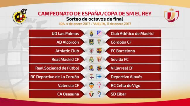Fechas de Copa: Madrid-Sevilla 4 y 12E; Athletic-Barça 5 y ...