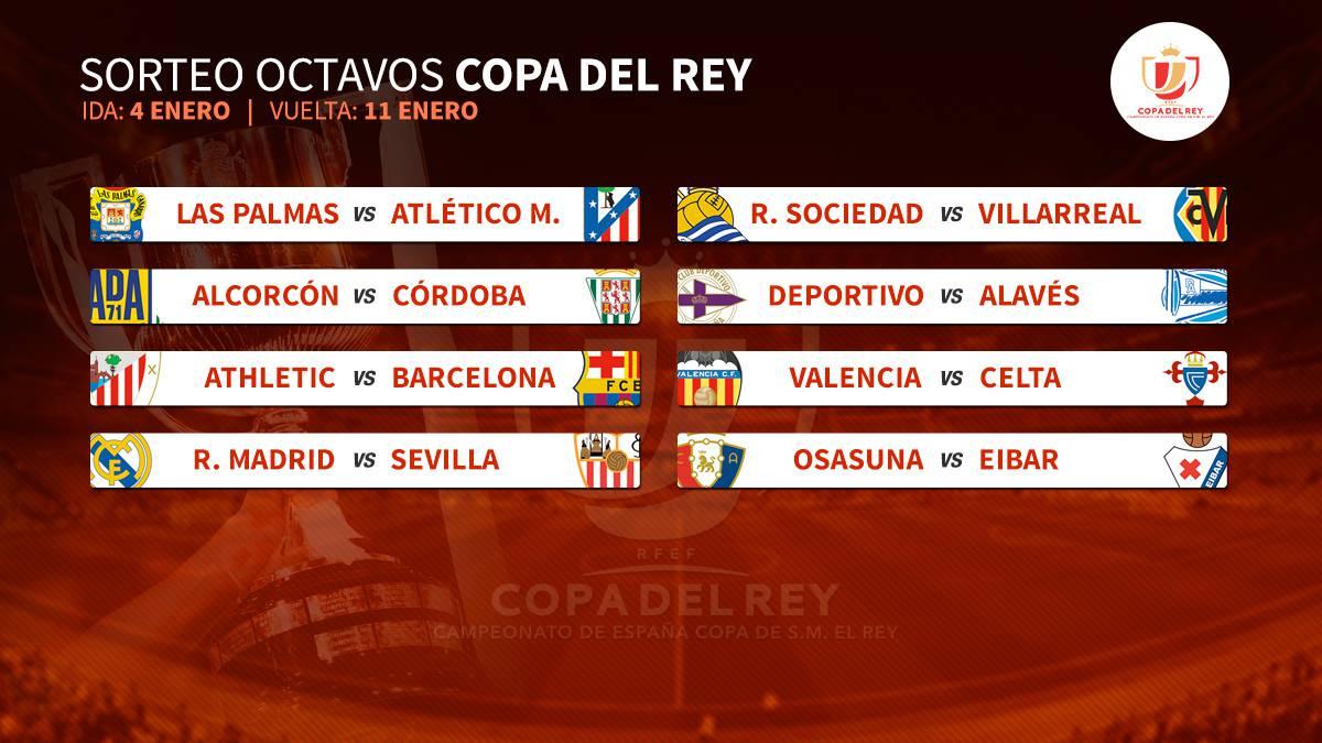 Fechas de Copa: Madrid-Sevilla 4 y 12E; Athletic-Barça 5 y 11E; y ...