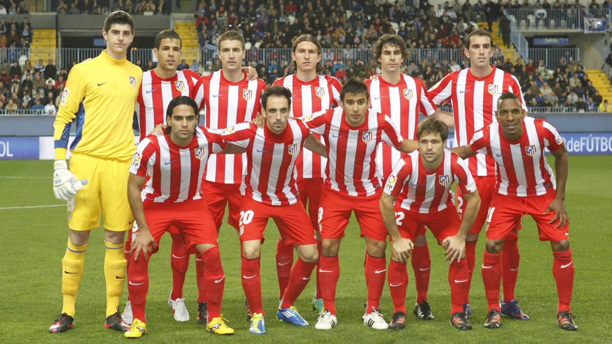 El primer once inicial de Simeone en el Atlético.