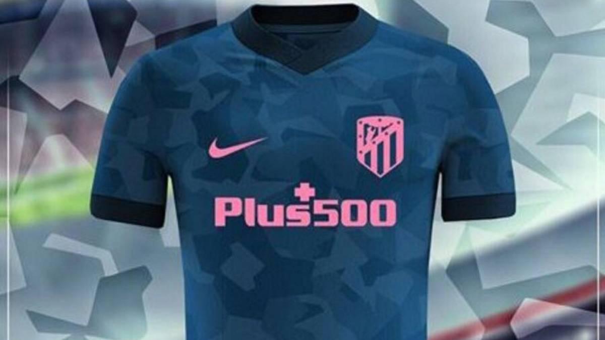 Filtran la tercera equipación del Atleti  camuflaje y escudo rosa. La  posible tercera equipación del Atlético en la 2017-18. 7eaf567dda14b