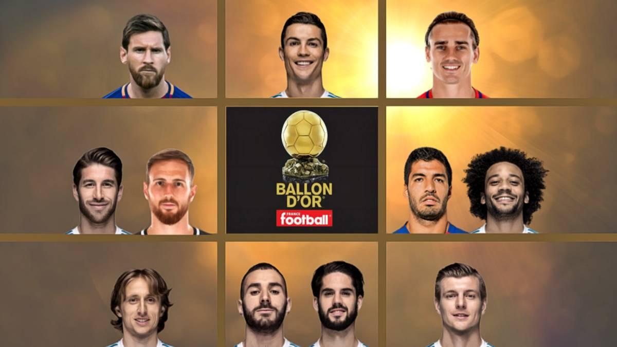 LaLiga domina con once candidatos al Balón de Oro - AS.com 56f63786c1c9b