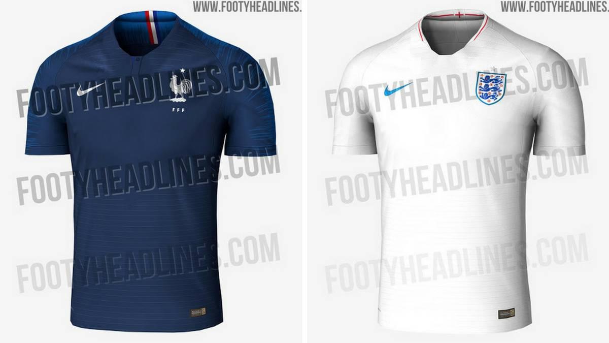 Filtran las camisetas de Francia e Inglaterra para el Mundial - AS.com 91a08dcb44ba8