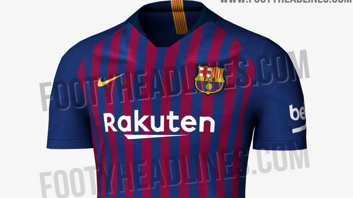 Posible diseño de la primera camiseta del FC Barcelona para la temporada  2018-2019. b2709ff5387