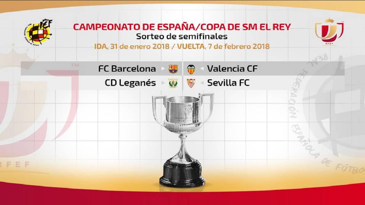 Resultado del sorteo de Semifinales de la Copa del Rey ...