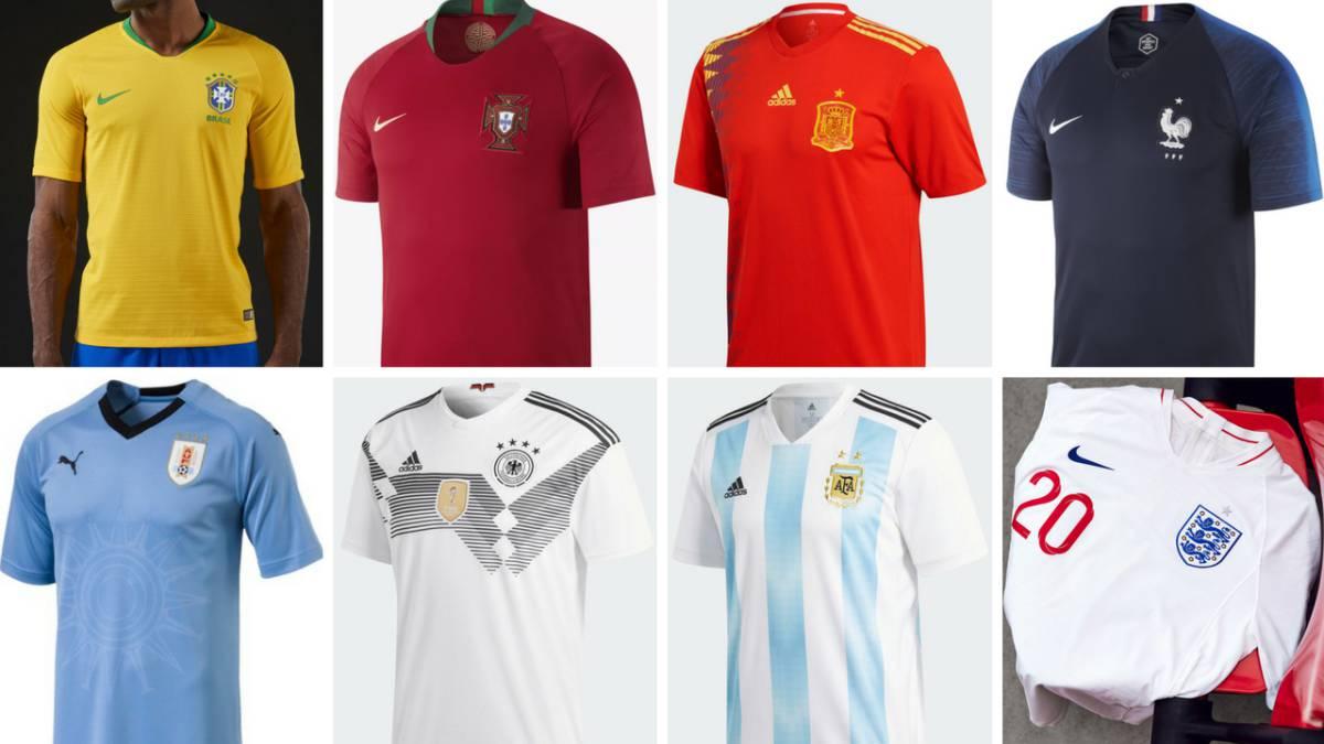 ahorre hasta 80% nueva especiales marca famosa Encuesta: este es el ranking de las camisetas del Mundial ...