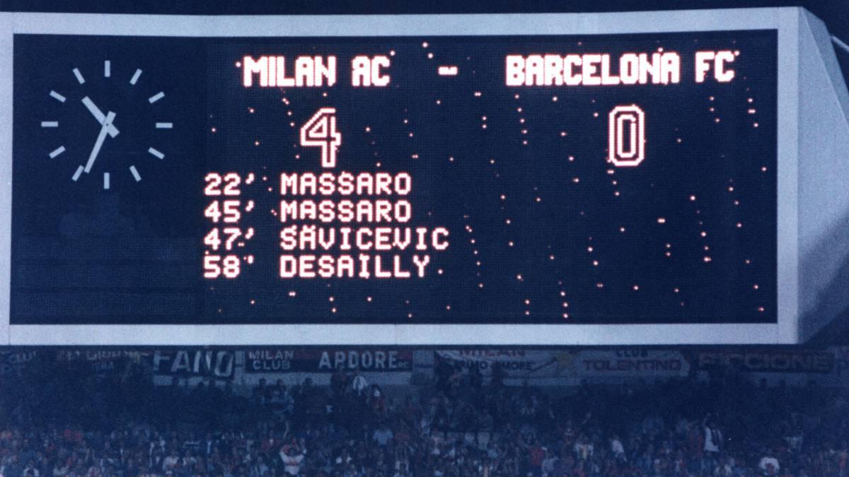 Ruinas del Barça en Europa: del 4-0 del Bayern al 4-0 del Milán - AS.com