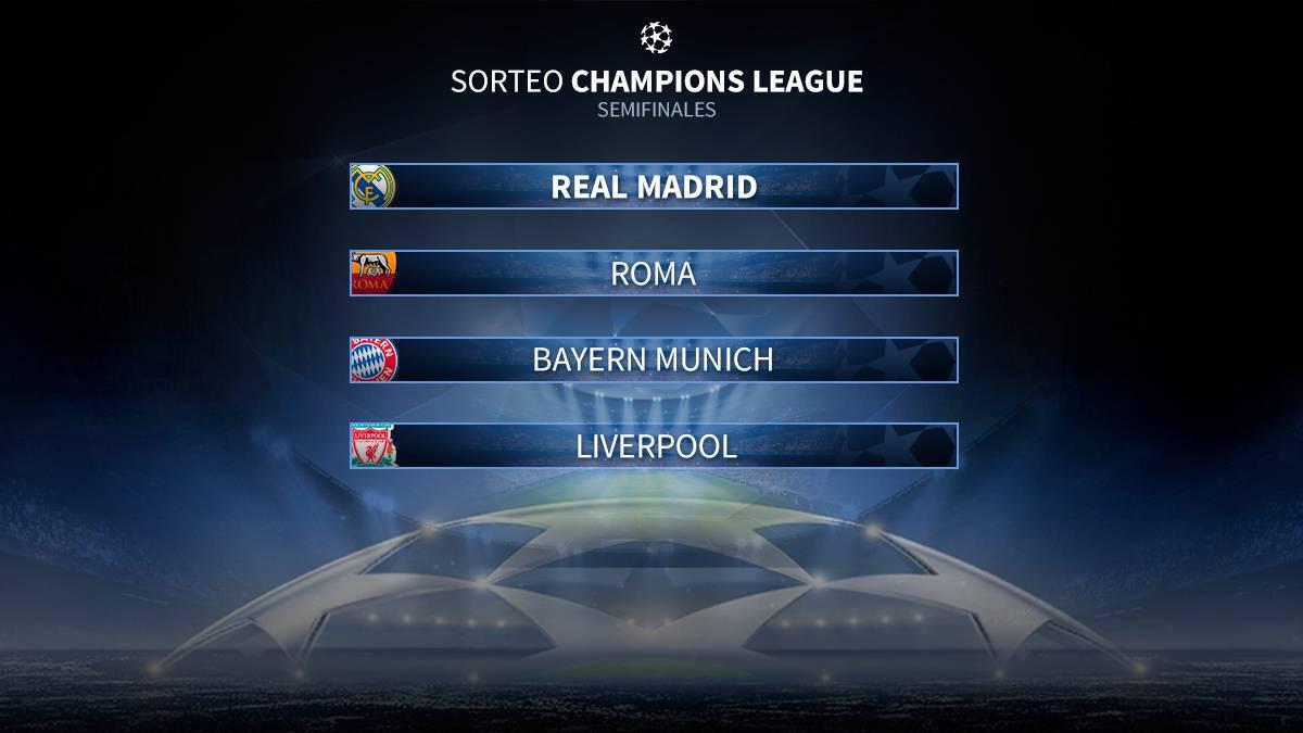 Sorteo Champions League 2018 en directo  semifinales - AS.com d5989717085e2