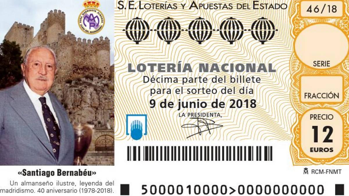 Calendario Loteria Nacional 2020.Real Madrid Santiago Bernabeu Tendra Su Decimo En La Loteria