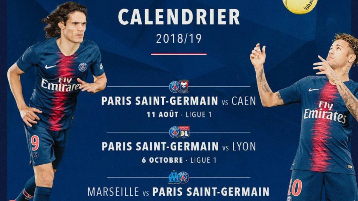 Calendario Ligue 1.El Psg Cuenta Con Neymar Para Anunciar Su Calendario 2018 19