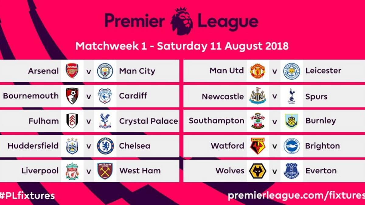 Calendario Arsenal.Duelo Emery Pep Guardiola En La Primera Jornada De La