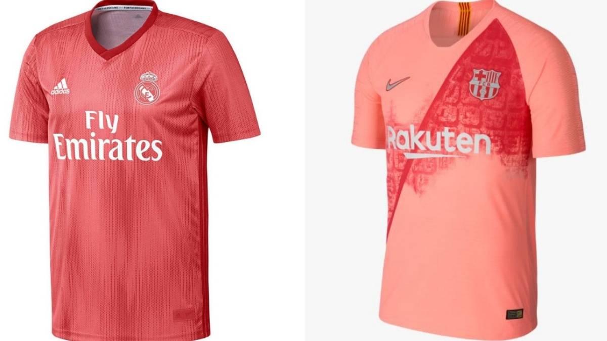 45c4ccd2 Terceras camisetas de Real Madrid y Barcelona en la temporada 2018-2019.