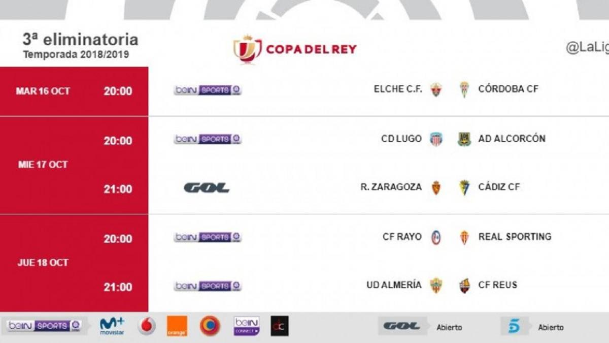 Calendario Coppa Del Re.Ya Hay Horarios Para La Tercera Eliminatoria De La Copa Del