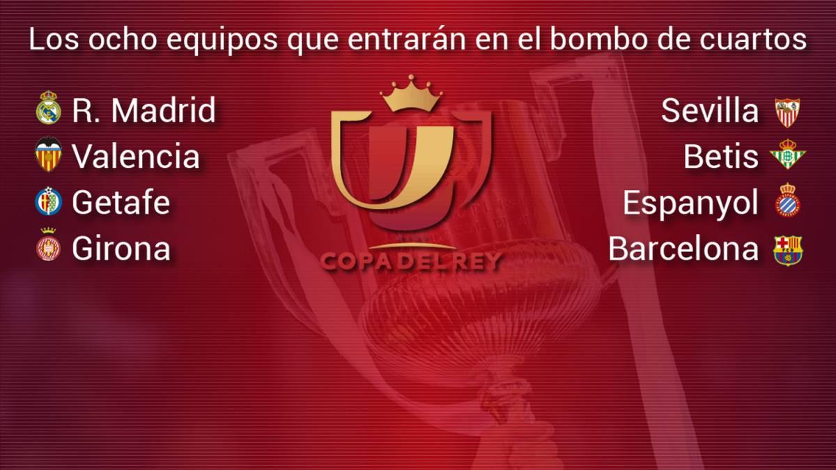 Así es el sorteo de Copa del Rey: equipos clasificados para ...