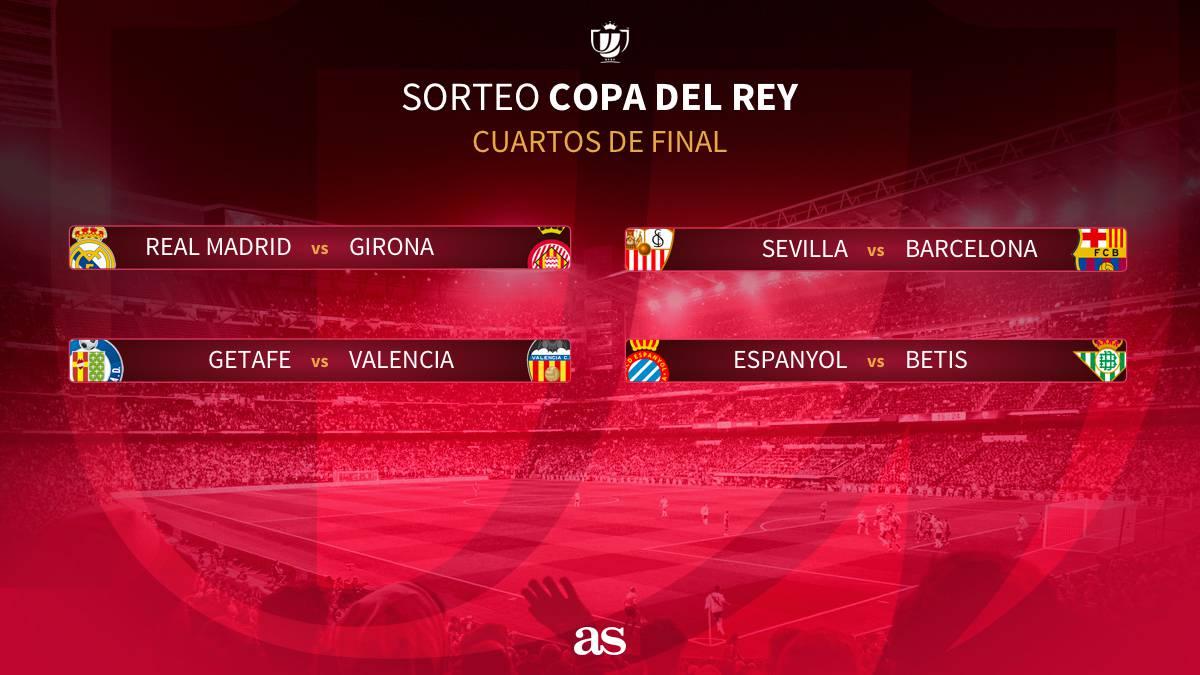 Real Madrid-Girona y Sevilla-Bar%E7a en cuartos de Copa del Rey