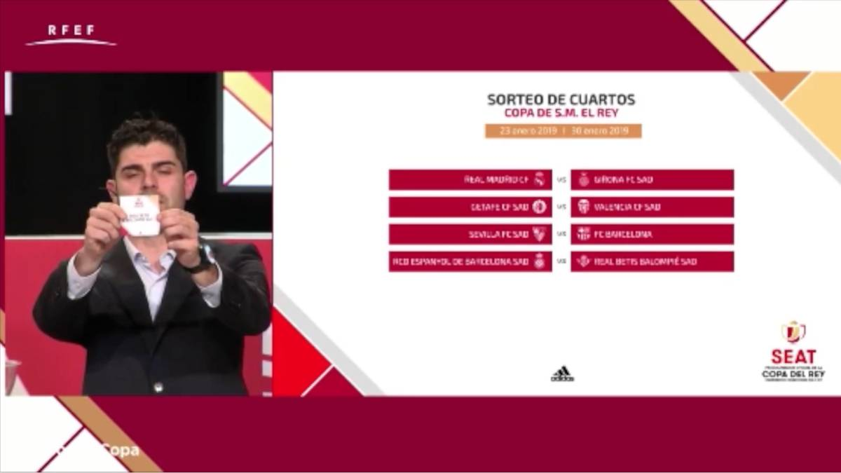 Real Madrid-Girona y Sevilla-Barça en cuartos de Copa del Rey - AS.com