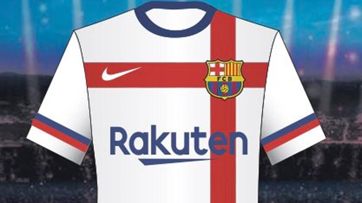 Orgullo Momento Gladys  MD: el Barça vetó una camiseta blanca diseñada por Nike - AS.com