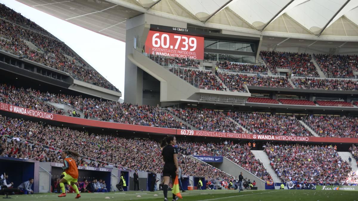 El Wanda Metropolitano batió el récord de asistencia  60.739 - AS.com 40b815cd5a9b9