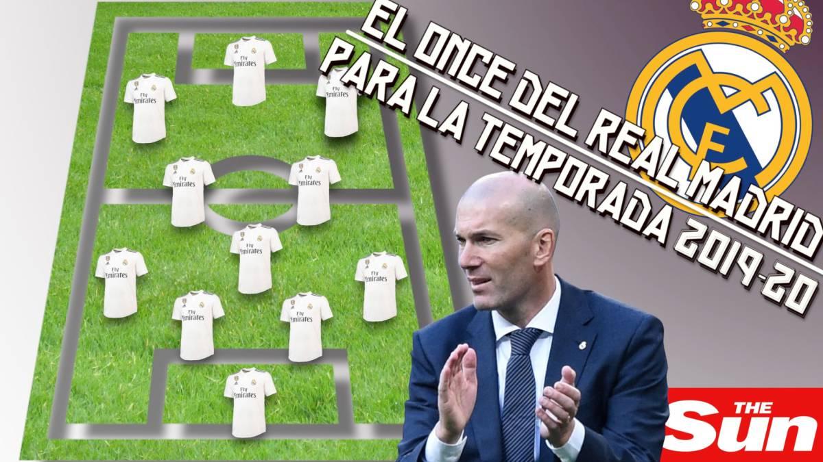 El Xi De Zidane Que Imagina The Sun Para La 2019 2020 Un Mes M E1s Tarde 3a Hay 6 Fichajes Nuevos