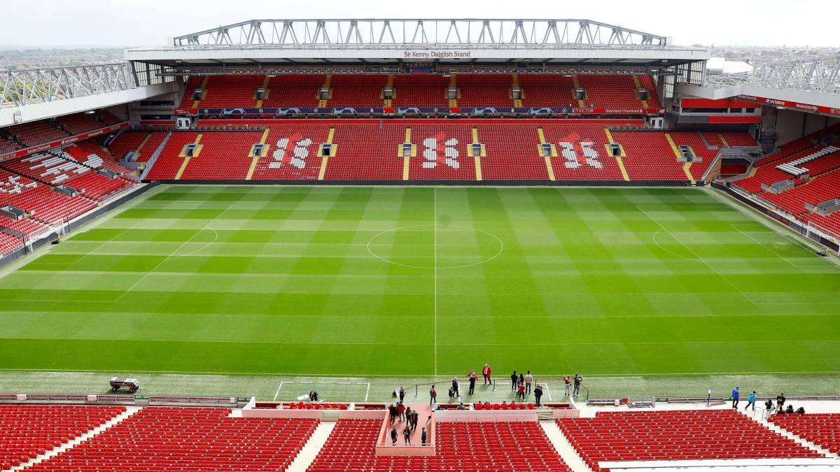 Anfield es uno de los mejores estadios de Europa