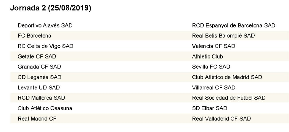 Calendario De 2020 Completo.Calendario Completo Con Las 38 Jornadas De Laliga 2019 2020