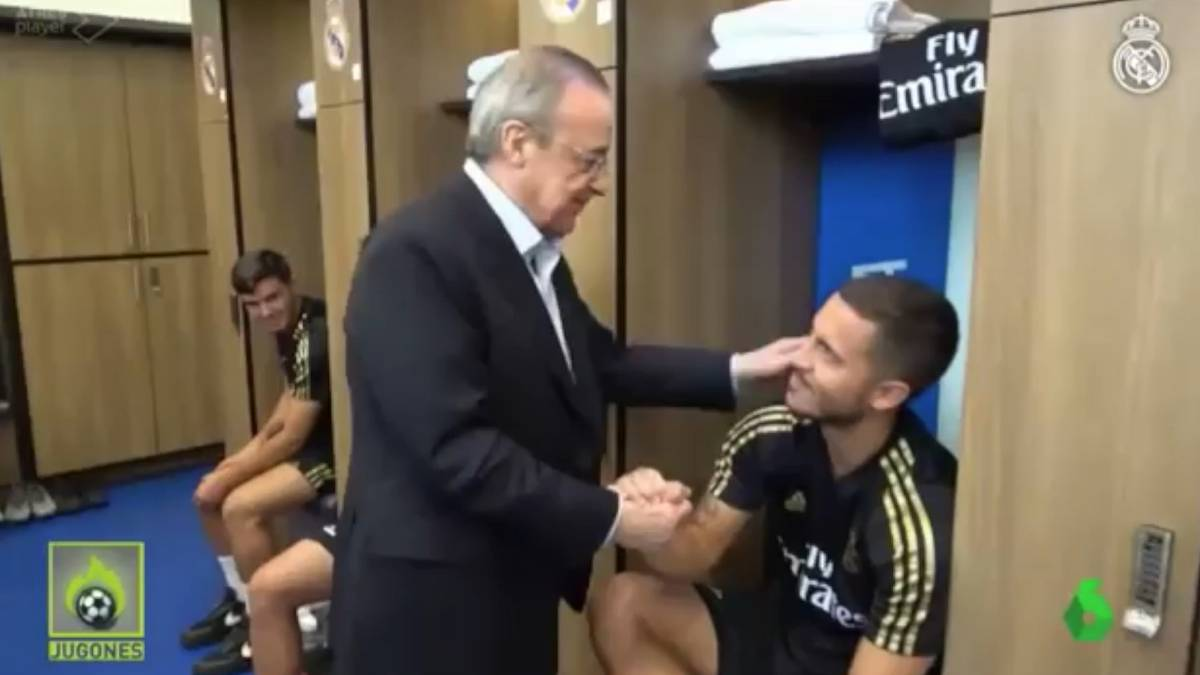 Florentino Saludo A La Plantilla Uno Por Uno La Bienvenida A Bale
