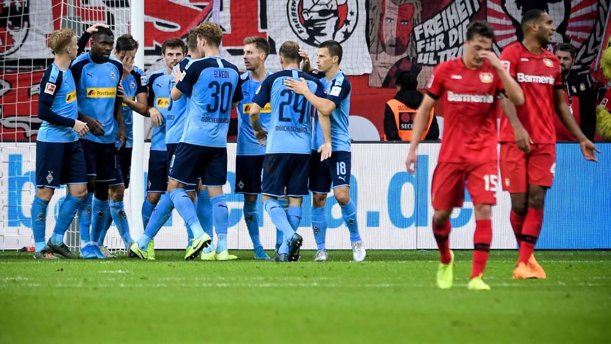 El Monchengladbach se impone al Leverkusen (1-2) y continúa al frente de la Bundesliga