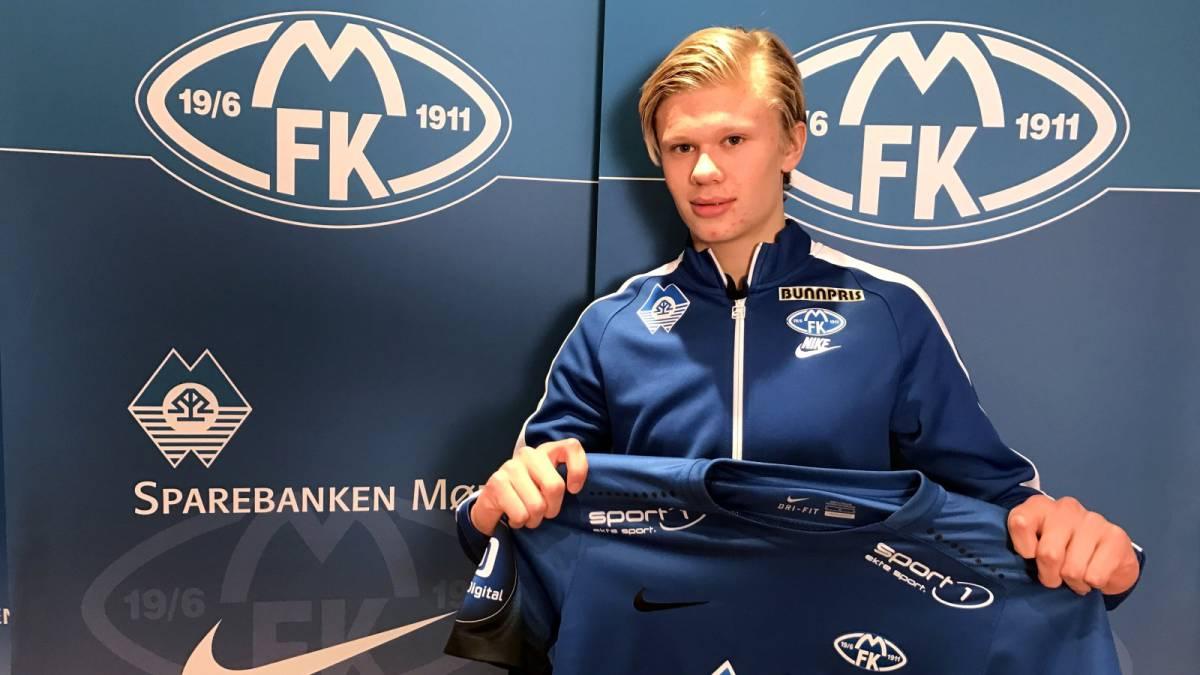 """Cuando Haaland llegó al Molde era un crío y no era bueno"""" - AS.com"""