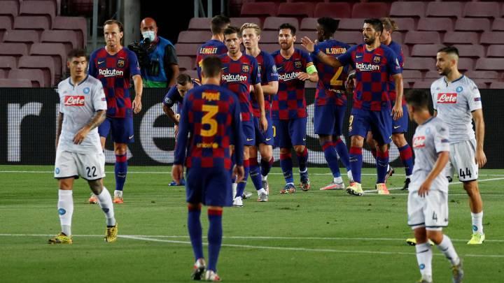 Barcelona 3 1 Napoles Resumen Goles Y Resultado Champions League As Com