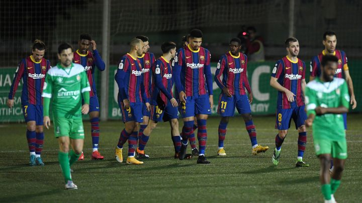 Barcelona sufre para eliminar a Cornellá y avanzar en la Copa del Rey