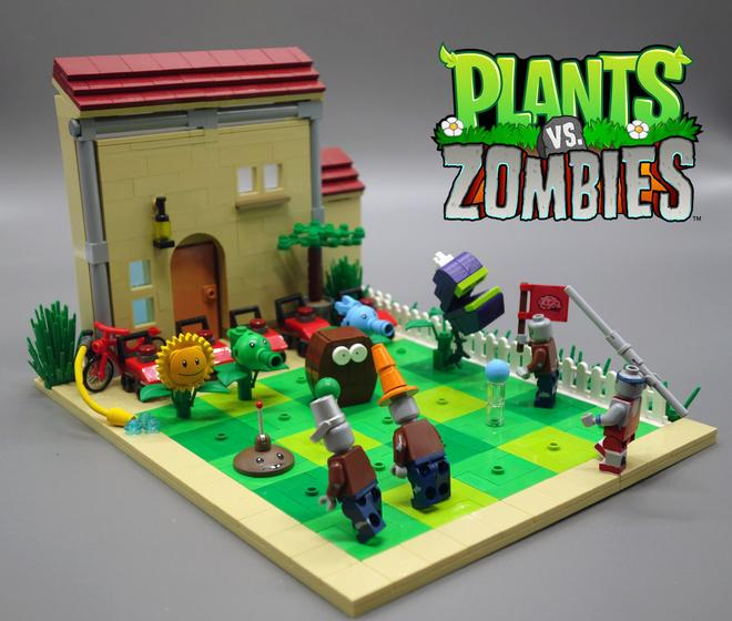 Montate Tu Plants Vs Zombies En La Vida Real Con Lego Meristation