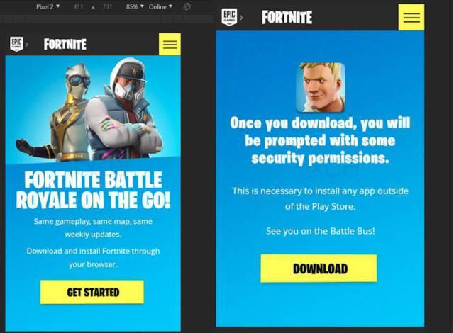 Fortnite en Android no se podrá descargar del Google Play Store