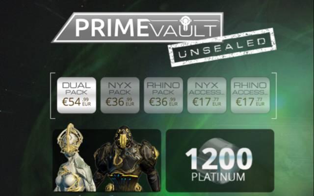 Sorteo Warframe: Consigue gratis un Dual Pack Prime Vault