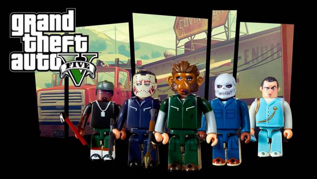 GTA V Heist Edition Kubrick Set by Rockstar Games Grand Theft Auto IV /& V NEW