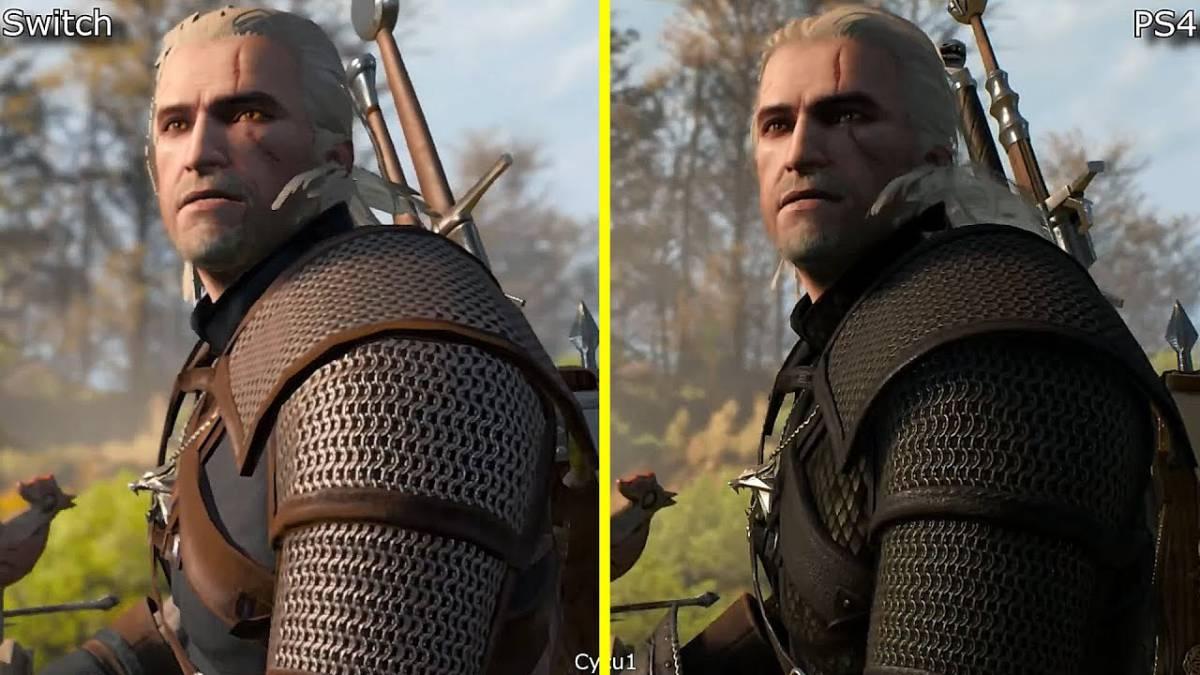 The Witcher 3 en Switch 540p en portátil; 720p en TV con