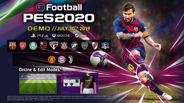 Demo Efootball Pes 2020 Confirmados Los 14 Equipos Disponibles