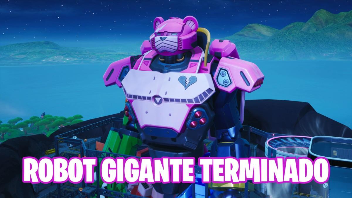 Fortnite Finaliza La Construcción Del Robot Gigante Doggus