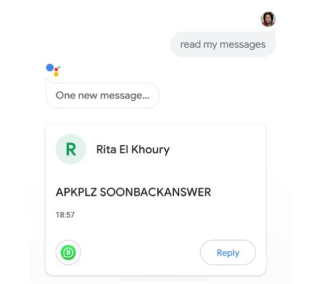 Google Assistant ya puede leerte los WhatsApp en voz alta