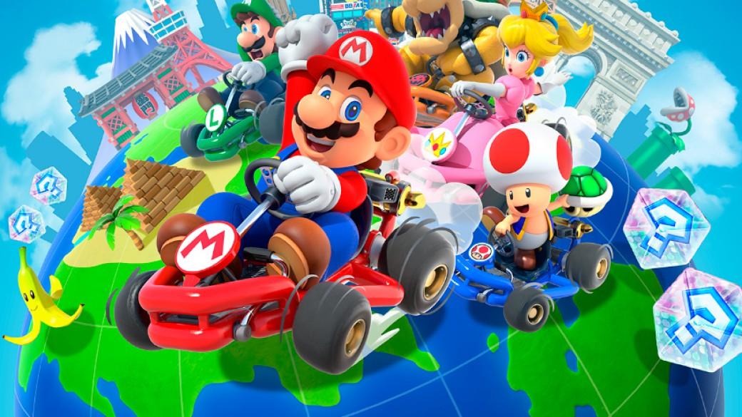 Mario Kart Tour Pick Up 5 Dropped Mushrooms Using A