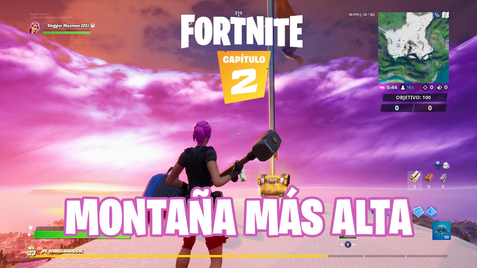 Desafio De Fortnite Llega Hasta La Cima De La Montana Mas Alta