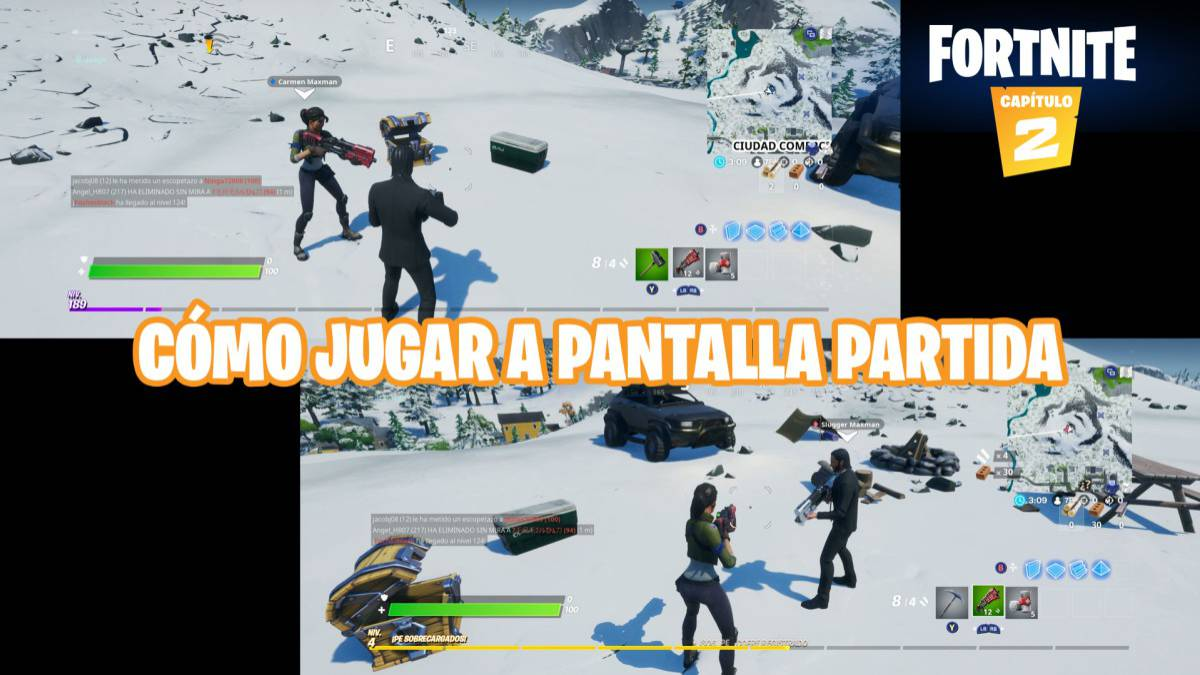 Trick To Play With Ps4 And Xbox Fortnite Fortnite Como Jugar A Pantalla Dividida En Ps4 Y Xbox One Meristation