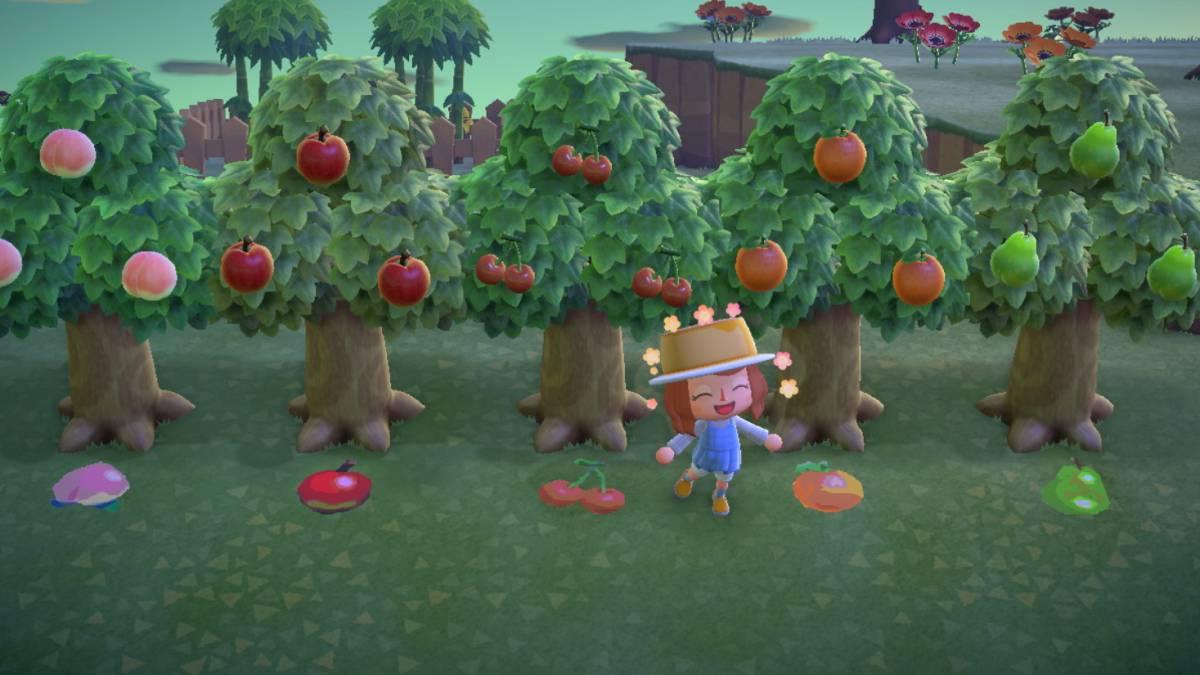 Los árboles frutales que podemos tener en Animals Crossing: New Horizons.